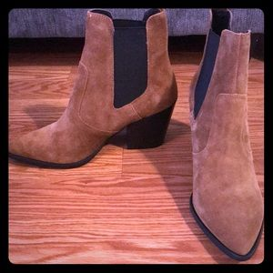 Steve Madden Patricia Chestnut Suede Booties